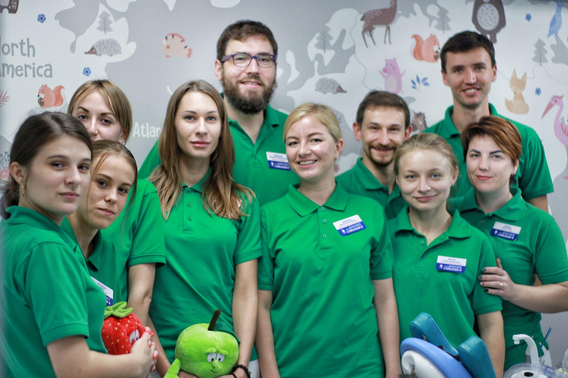 Команда детской стоматологии Дубновой в Киеве